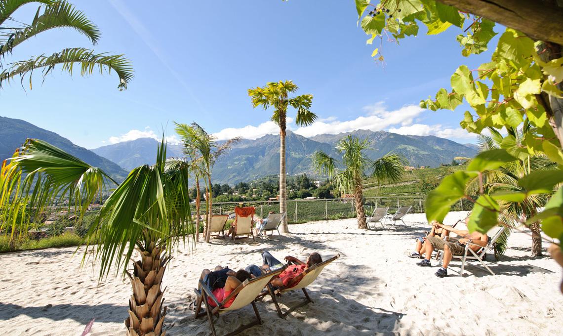 Spiaggia delle Palme - Giardini di Castel Trauttmansdorff