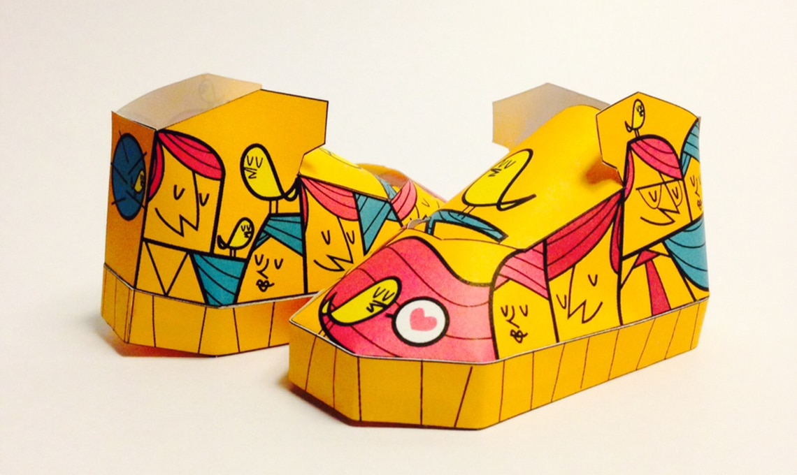 Paper toys Phil Toys Filippo Perin
