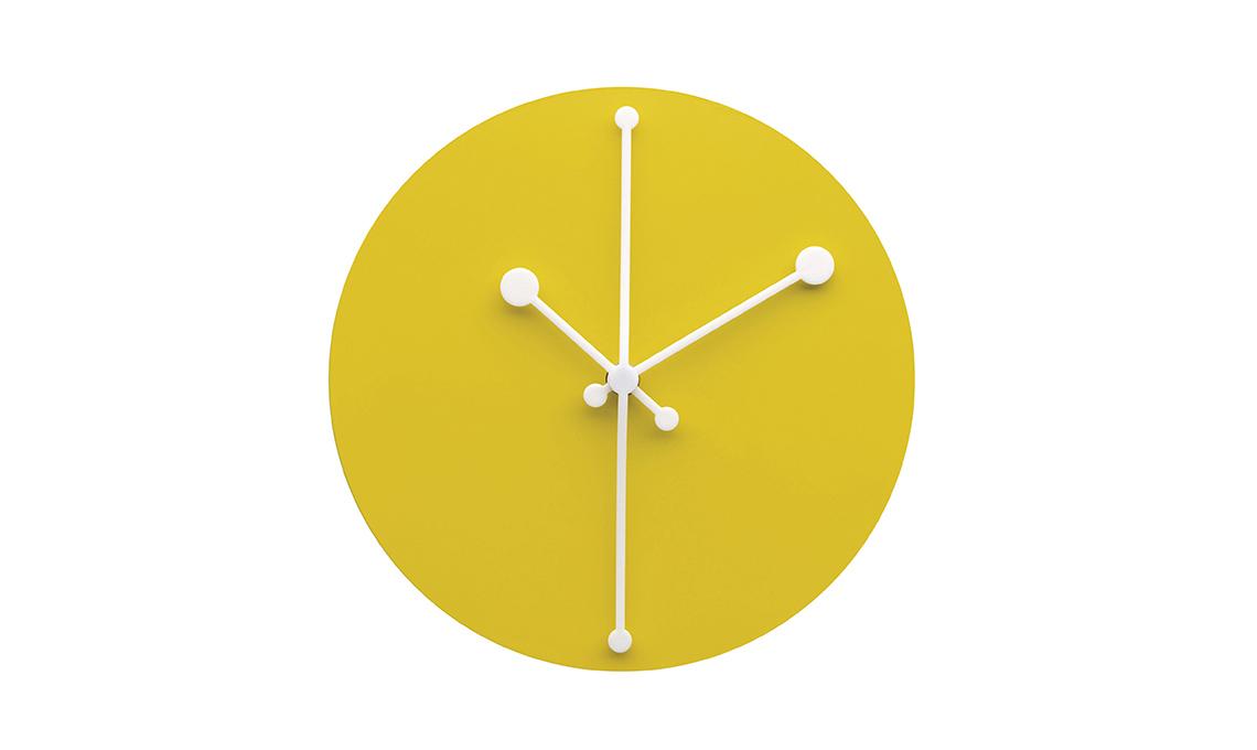 orologio da parete giallo