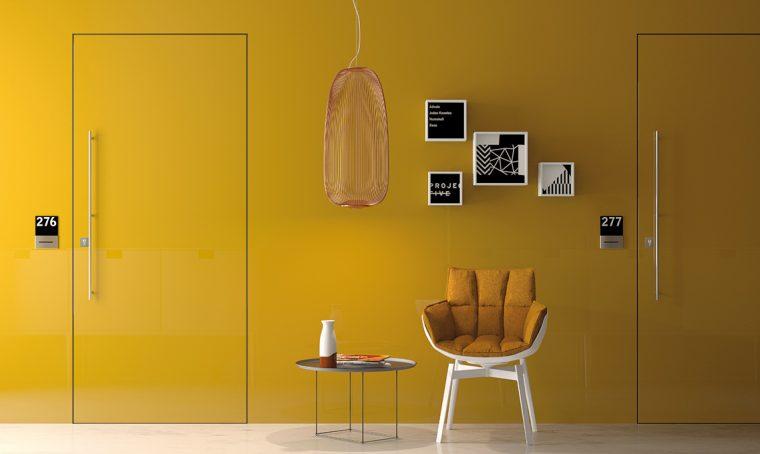 porta filomuro gialla