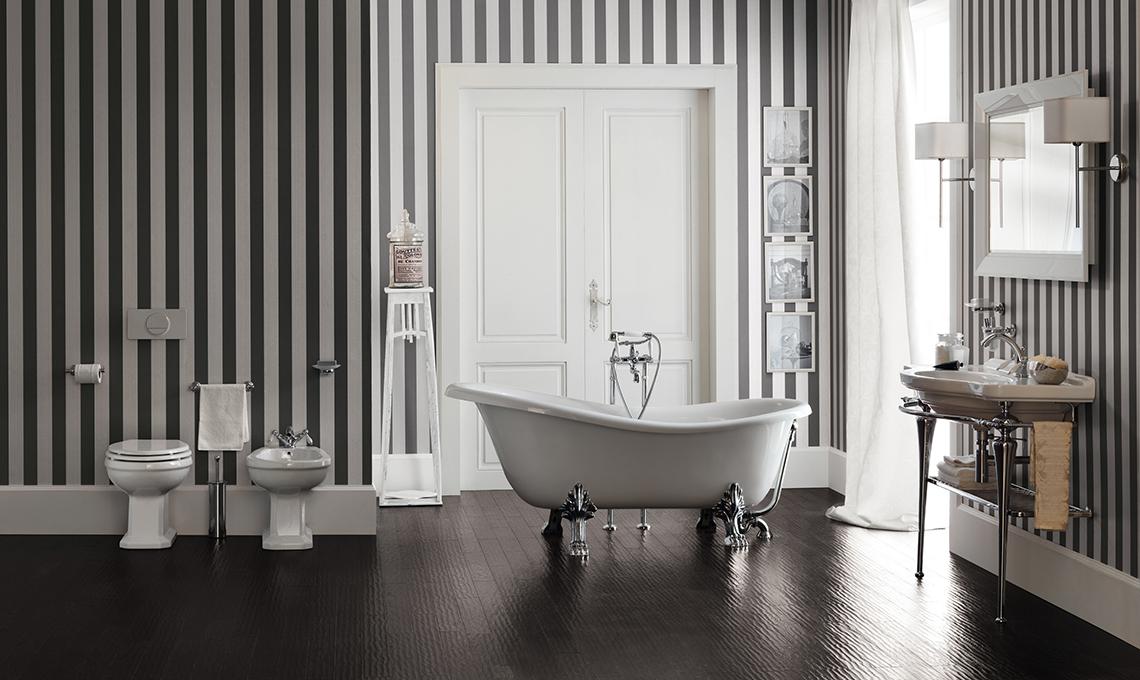 Idee per arredare un bagno classico casafacile - Come scaldare il bagno ...