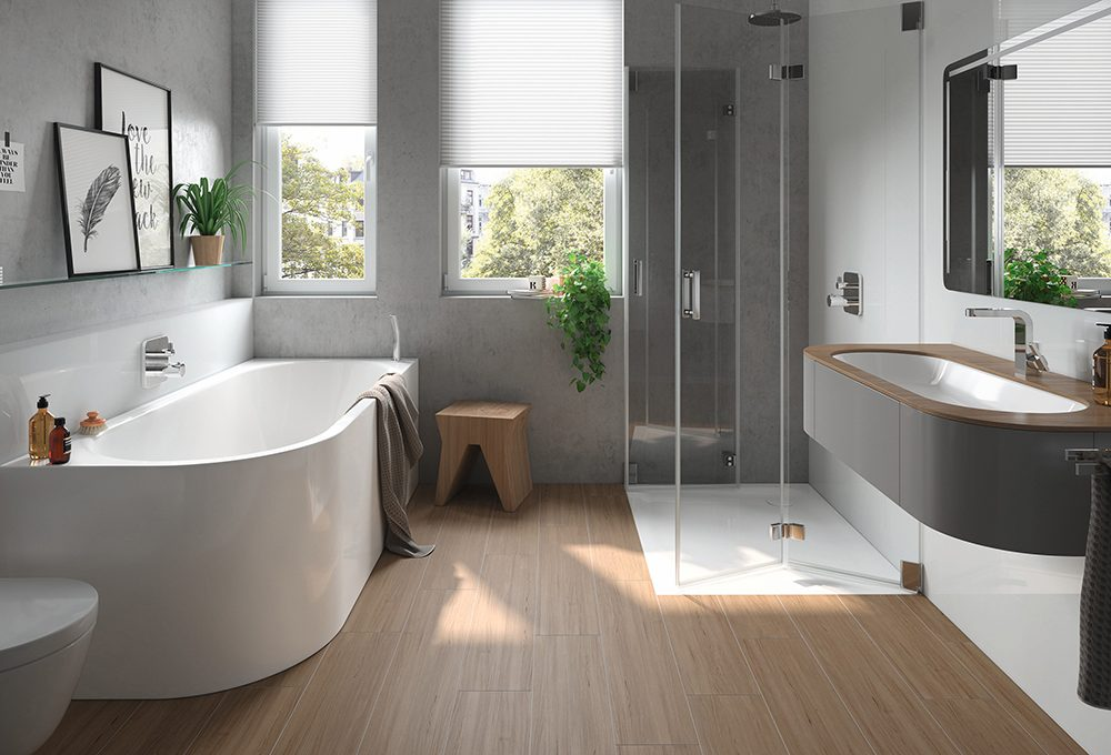 Rivestimenti e pavimenti per un bagno moderno casafacile - Rivestimenti per bagno moderno ...