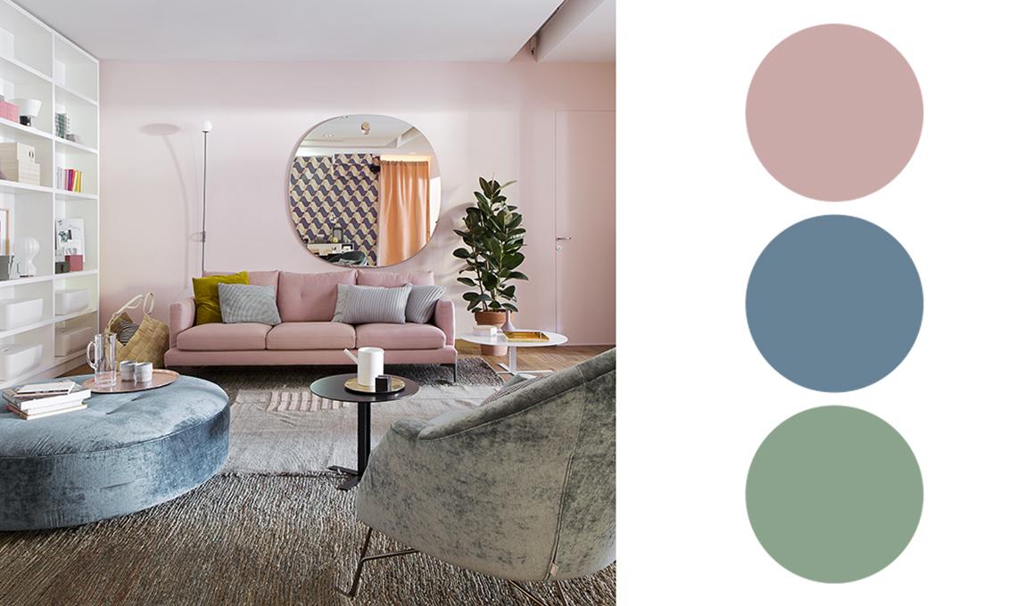 soggiorno colori pastello
