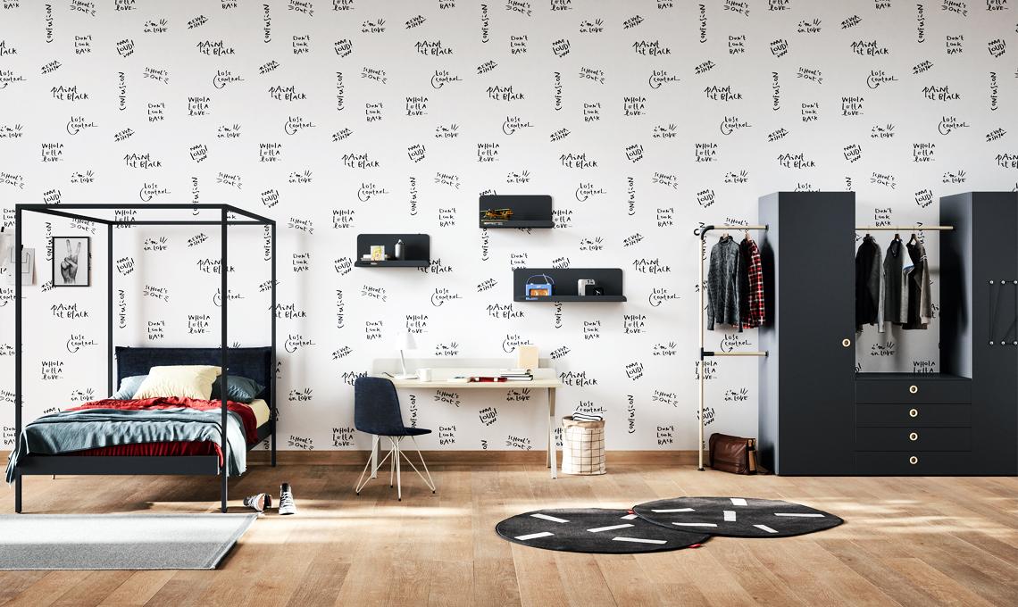 Come arredare la cameretta in bianco e nero casafacile - Arredare la cameretta fai da te ...