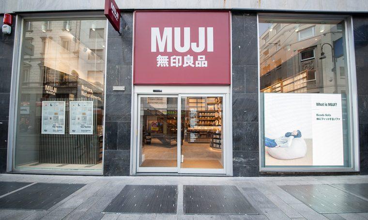 Il nuovo negozio Muji nel centro di Milano