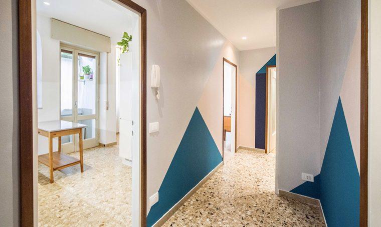 Pavimento in graniglia in una casa moderna