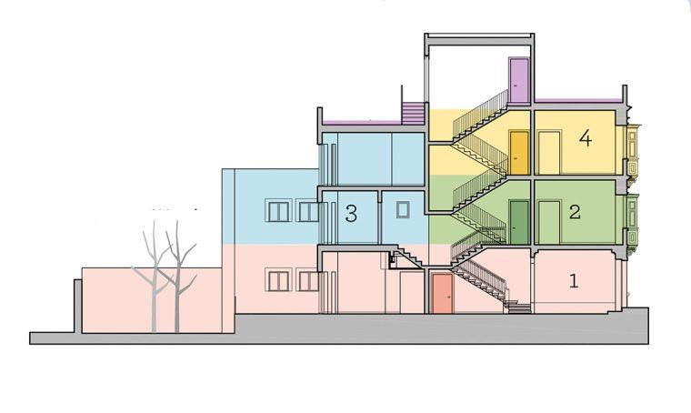 4 appartamenti per le vacanze ricavati nella vecchia villetta