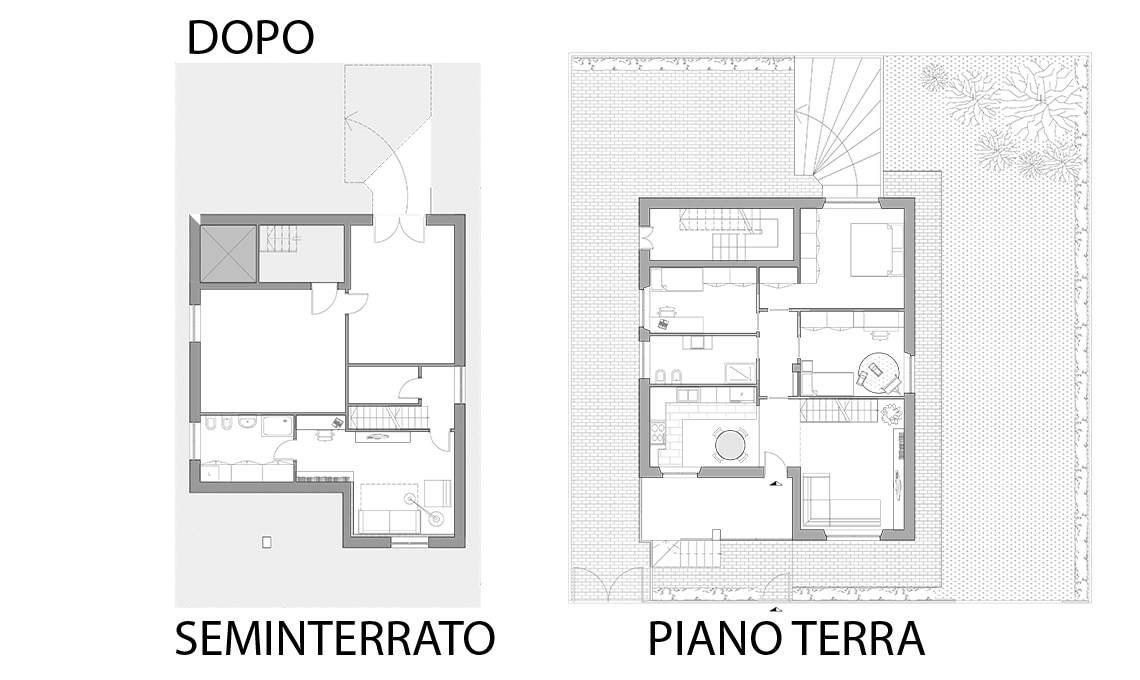 Da garage a taverna multitasking ed bastata una scala for Progettista del piano terra del garage