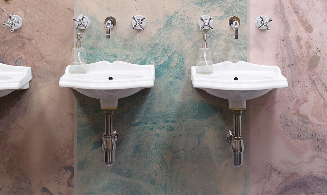 Rivestimenti e pavimenti per un bagno classico