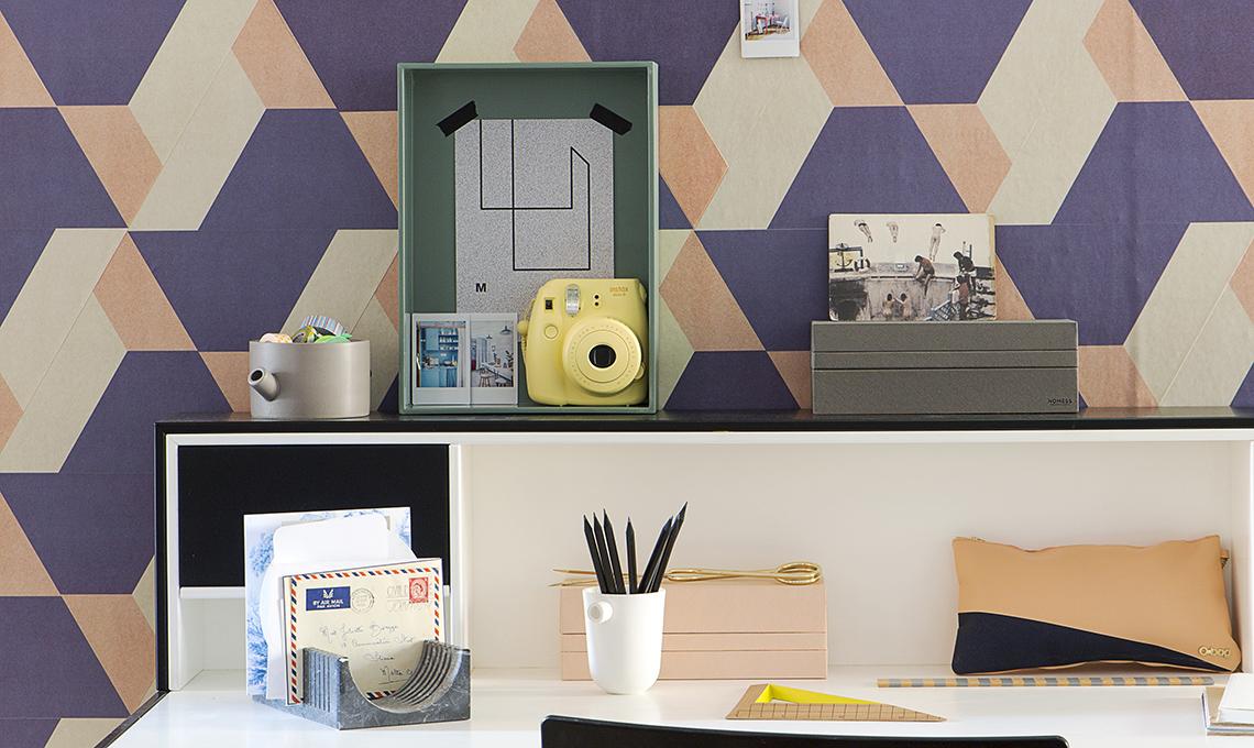 Ben noto Angolo studio fai-da-te: scrivania e parete décor - CASAfacile MW06
