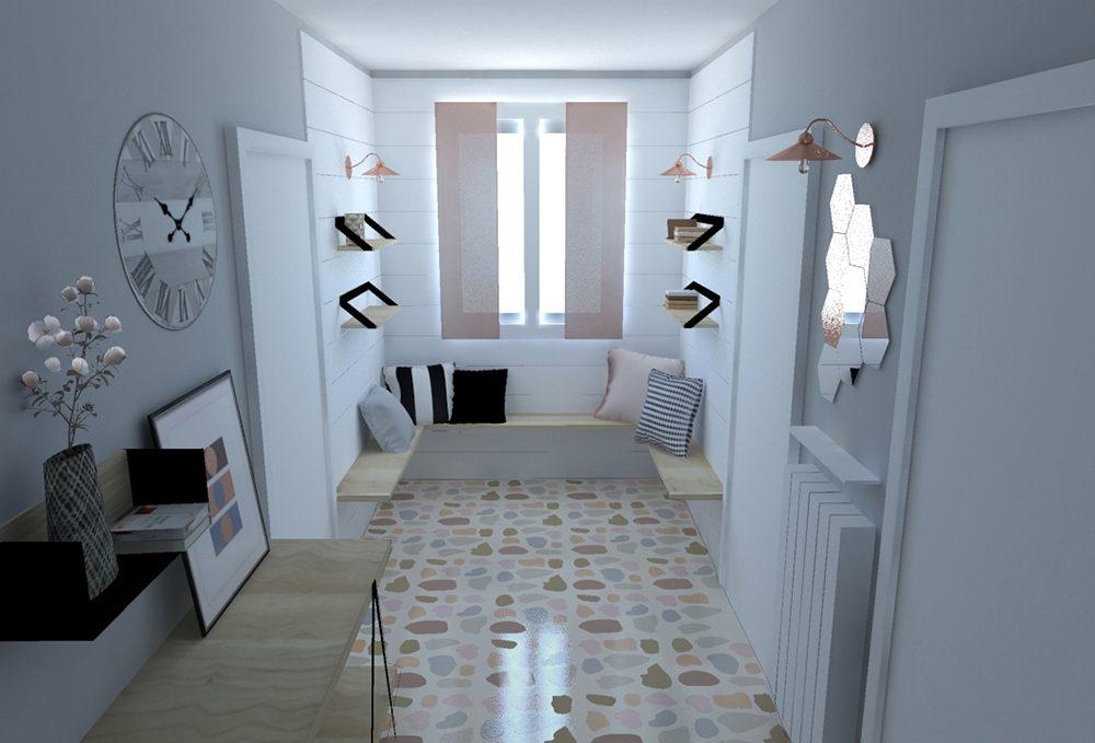Pavimento in graniglia in una casa moderna casafacile - Pavimenti per casa moderna ...