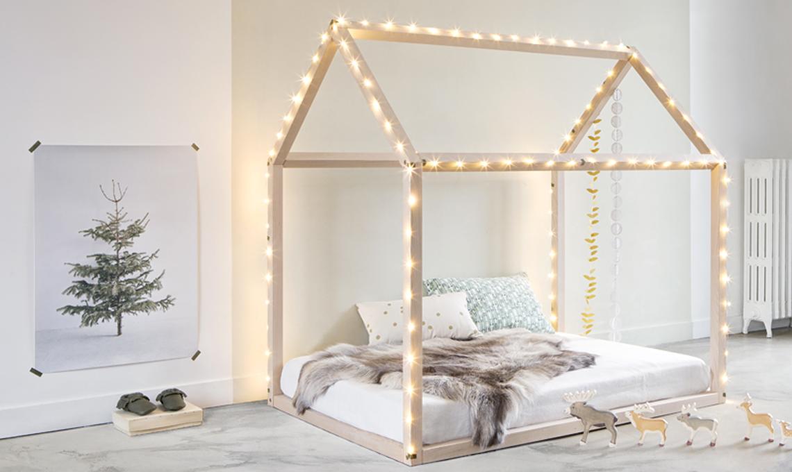 Letto Per Bambini Montessori : Sweet home da letto in legno letto casa letto per bambini