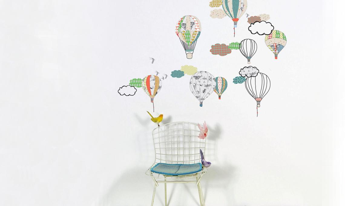 Stickers con mongolfiere Mimi 'Lou
