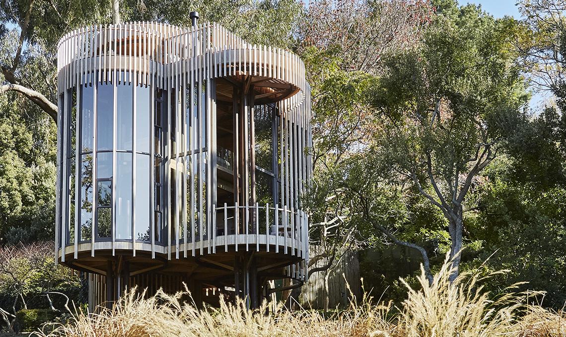 casa in vetro e legno