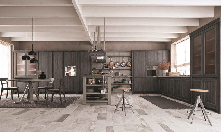 La cucina in legno 100% naturale