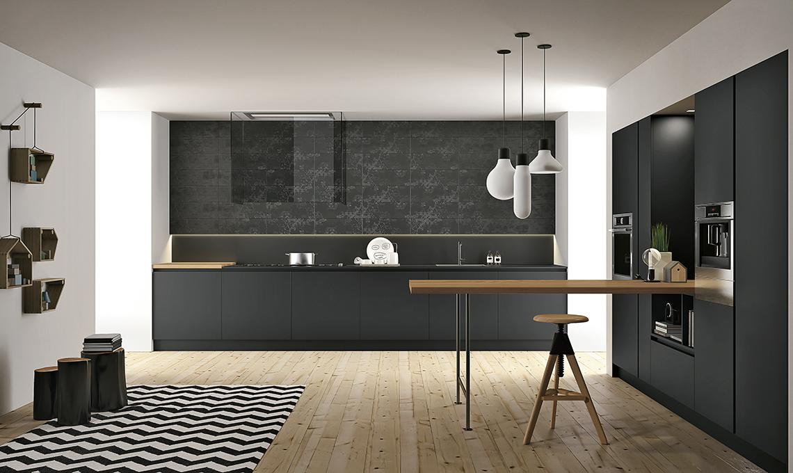 Piano Cucina Nero : Fenix il materiale ultraresistente per una cucina a prova