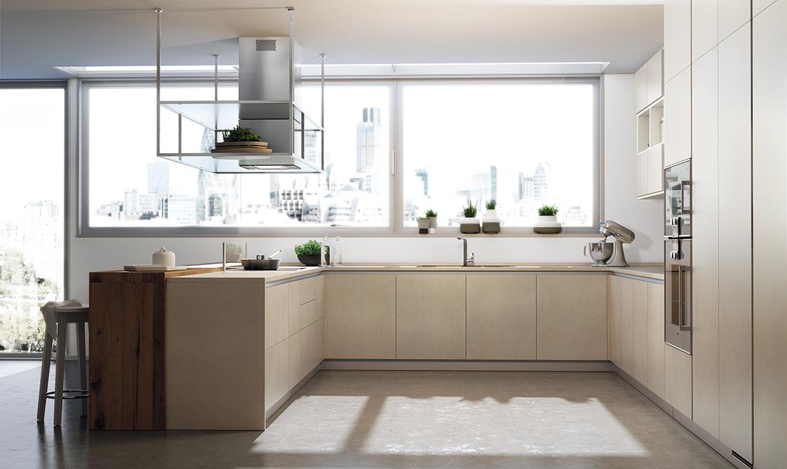 La cucina con le ante in gr s porcellanato casafacile - Rima con finestra ...