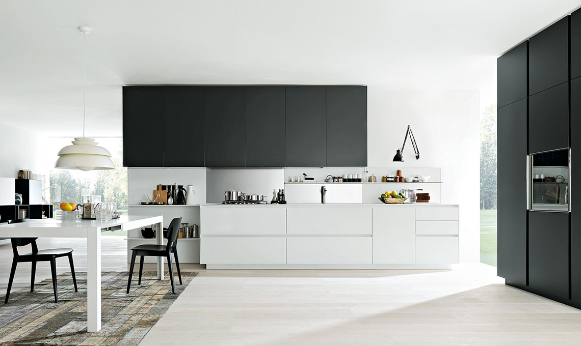 Ante a vetro in cucina s ma ad alte prestazioni - Ante in vetro cucina ...