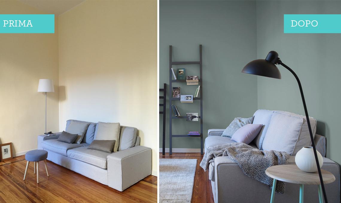 Pareti azzurre open zoom parete bianca o colorata with - Decorare le pareti della camera da letto ...