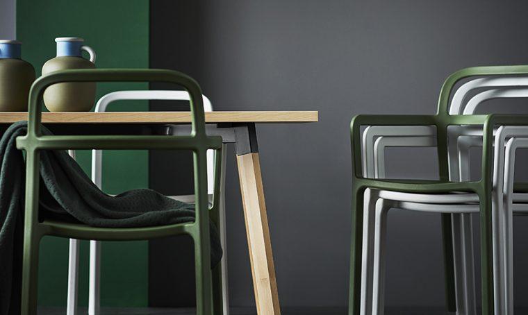 Le sedie Ypperlig di Ikea, il design e la funzionalità che non rubano spazio