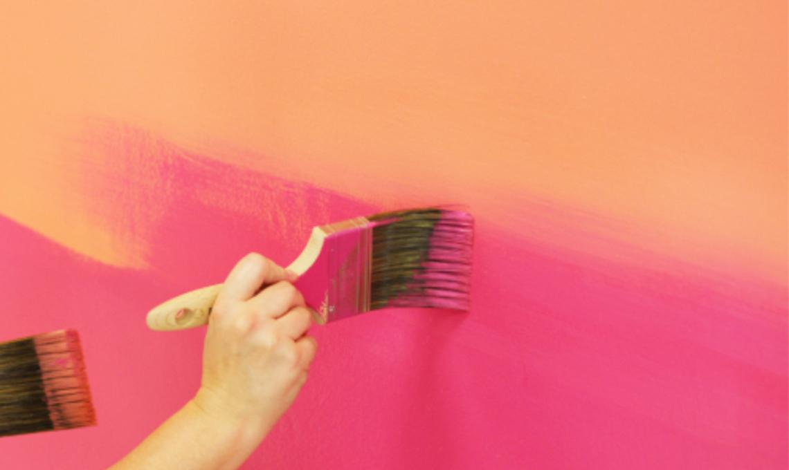 come fare parete effetto sfumato