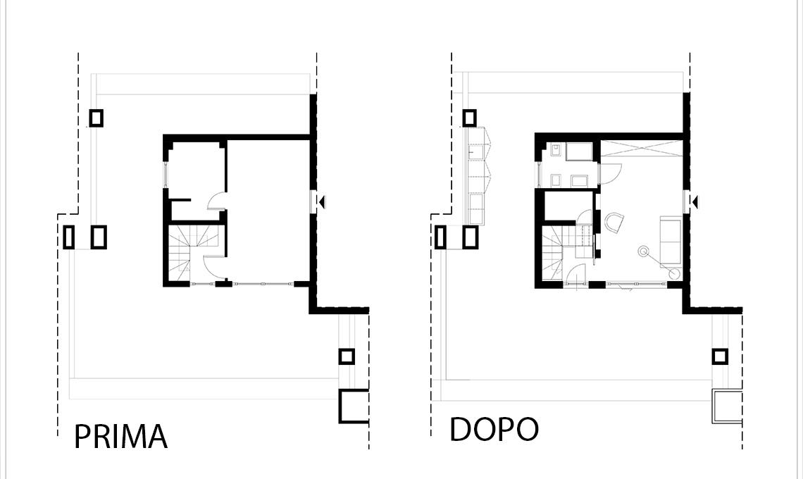 quadrilocale su due piani