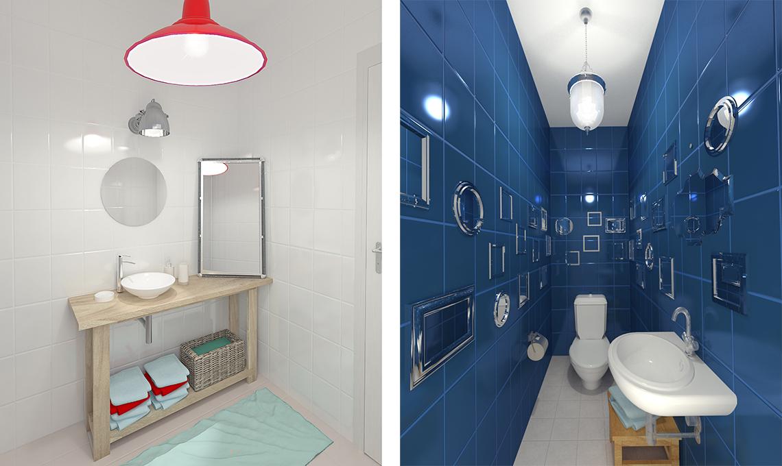 Come usare gli specchi per far sembrare il soggiorno pi for 2 bagni piccola casa