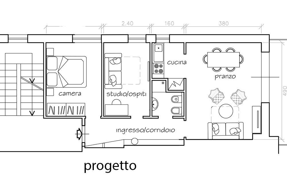 Progetto casa 100 mq un piano progetti di case con for Costo per costruire piani di casa