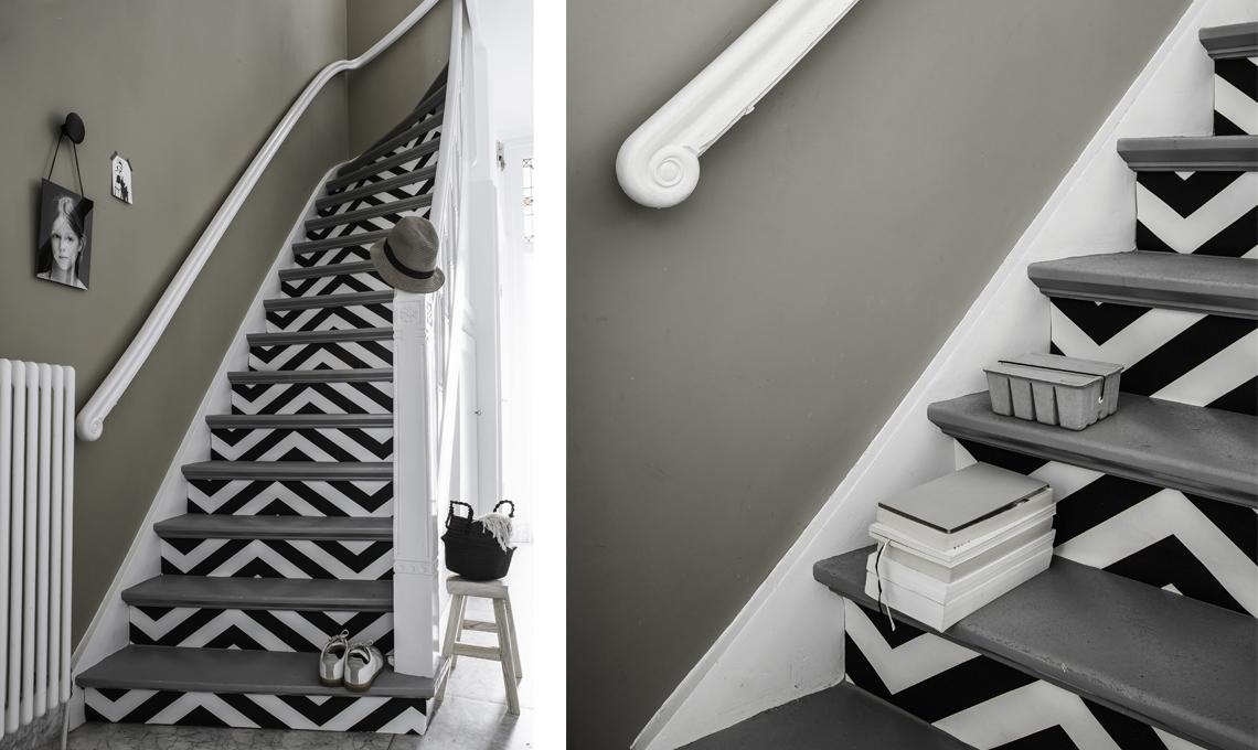 come abbellire una scala con effetto optical casafacile
