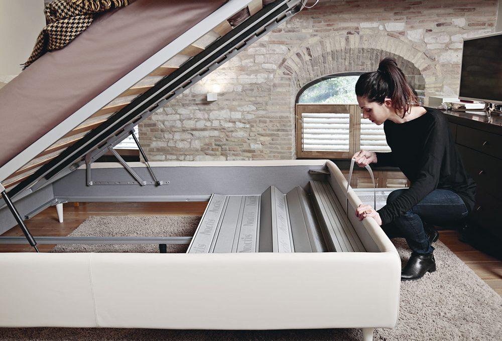 Come organizzare lo spazio sotto il letto contenitore