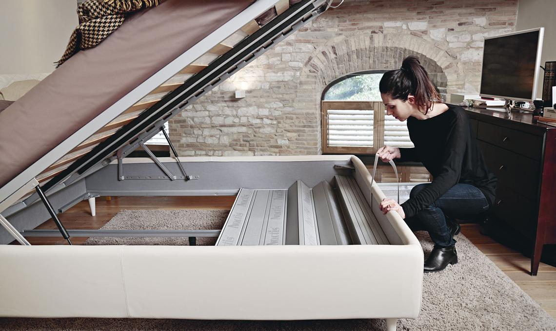Come organizzare lo spazio sotto il letto contenitore - Letto contenitore fai da te ...