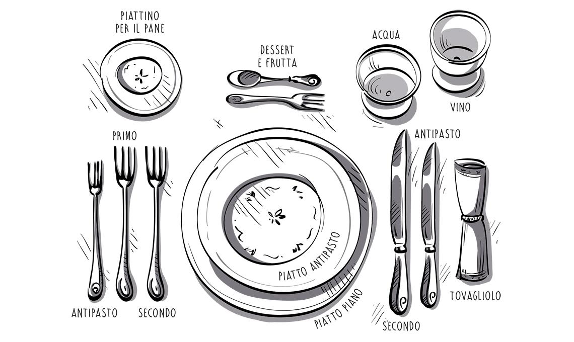 Le regole del galateo per apparecchiare la tavola casafacile - Galateo a tavola posate ...