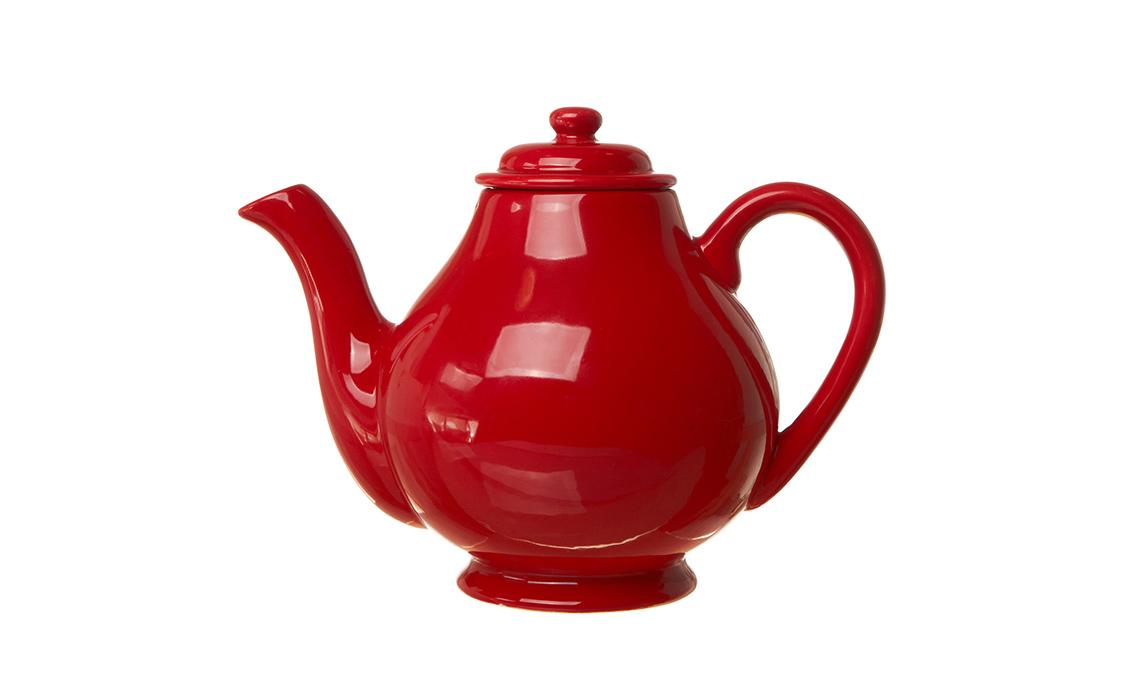Teiera in ceramica rossa