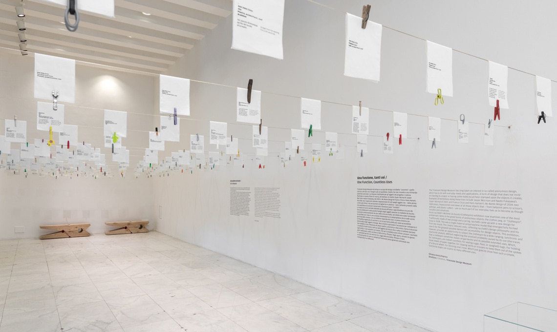 Una veduta dell'allestimento della mostra
