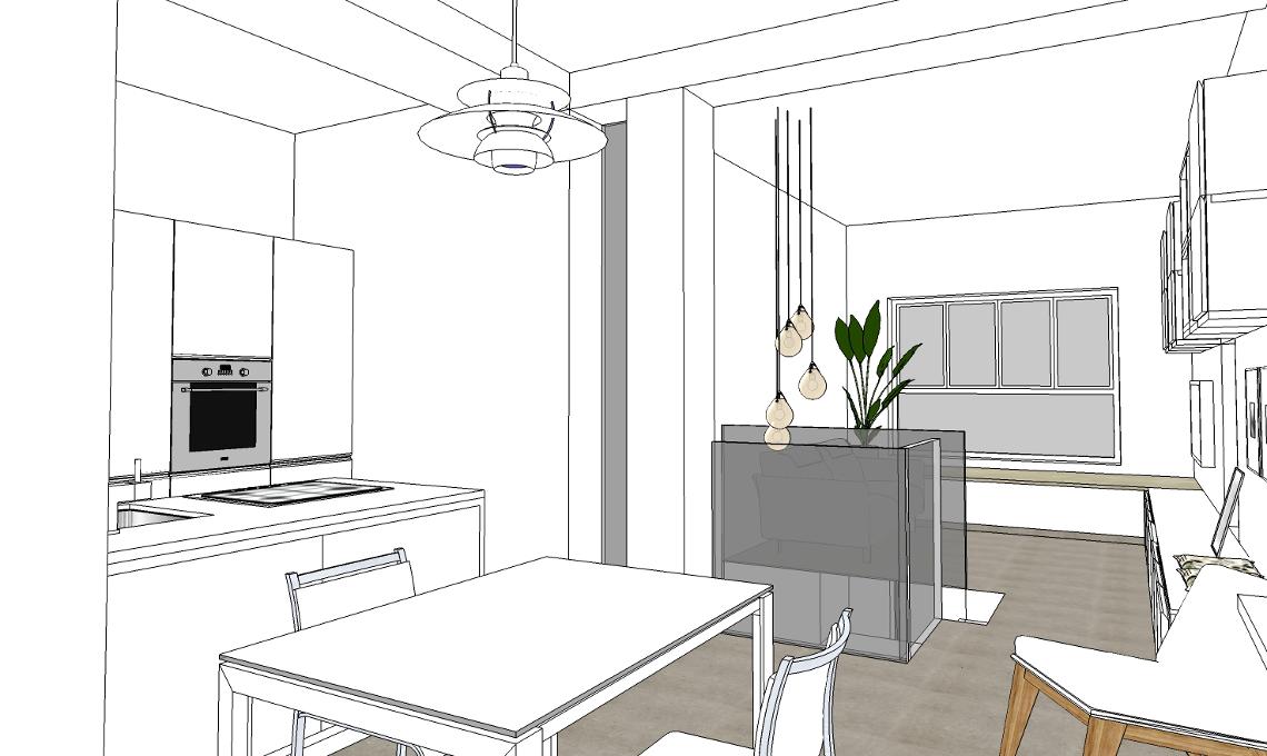 Progetto di arredo del living casafacile for Progetto arredo casa on line