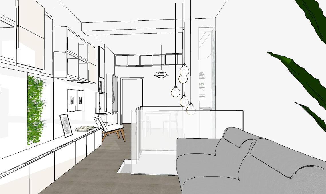 Progetto di arredo del living casafacile for Progetto arredo