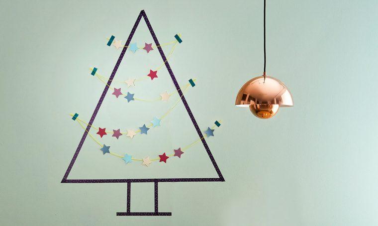 L'albero di Natale fai-da-te realizzato con i washi tape