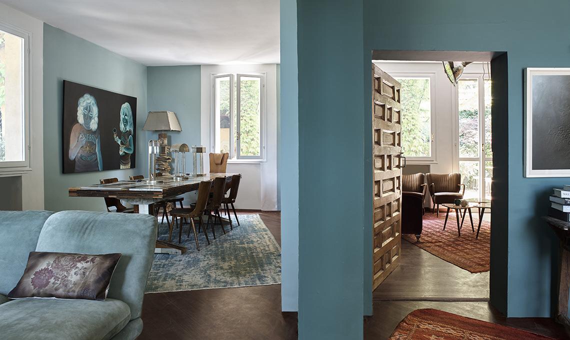 Pareti colorate e mobili vintage casafacile - Pareti colorate bagno ...