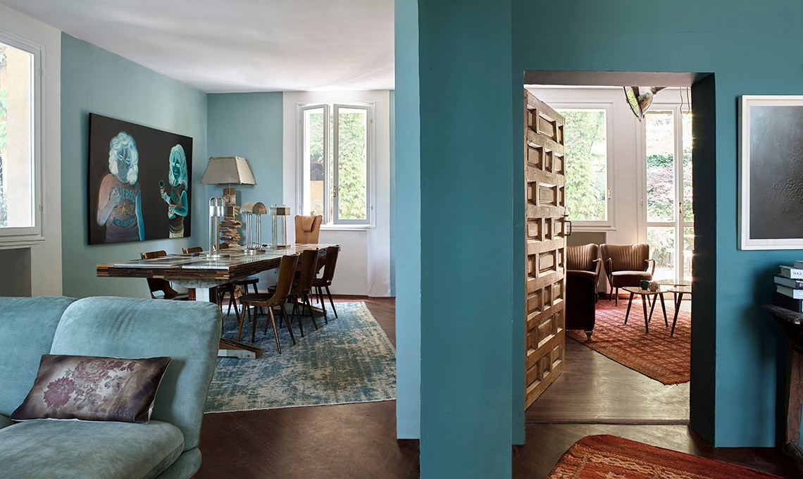 Pareti colorate e mobili vintage - CasaFacile
