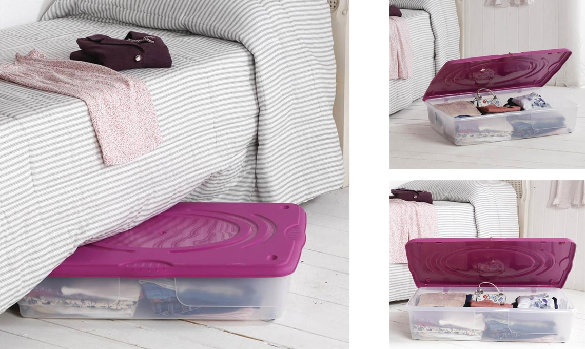 Cassetti Contenitori Sotto Letto : Idee per organizzare lo spazio sotto il letto casafacile