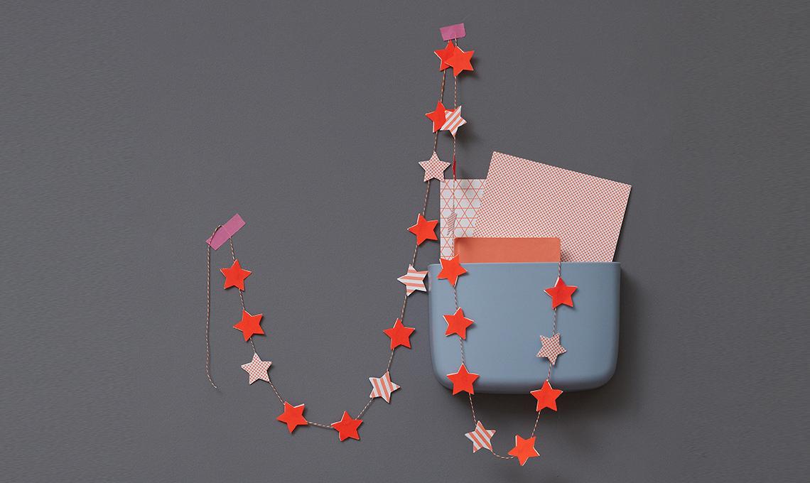 ghirlanda di stelle di carta