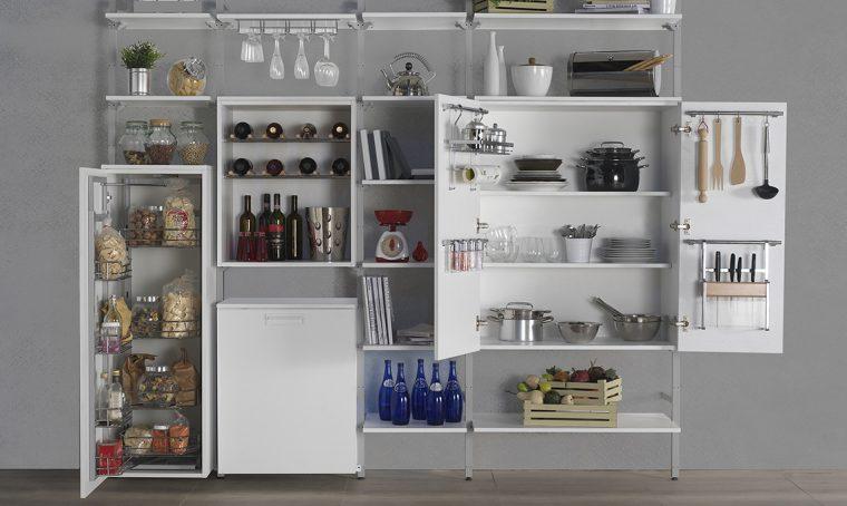 soluzioni salvaspazio in cucina