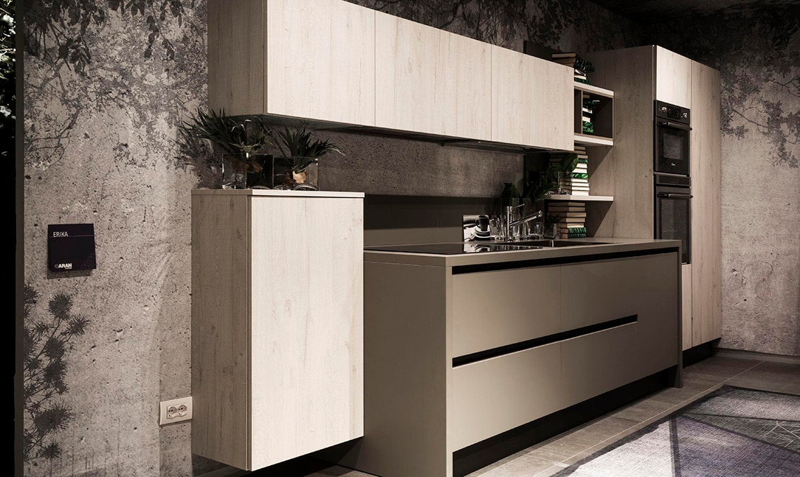 Aran Cucine Moderne. Free Lacquered Kitchen With Island Mir Colours ...