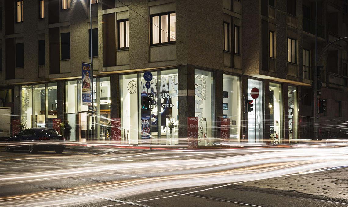 flagship store Aran Cucine a Milano