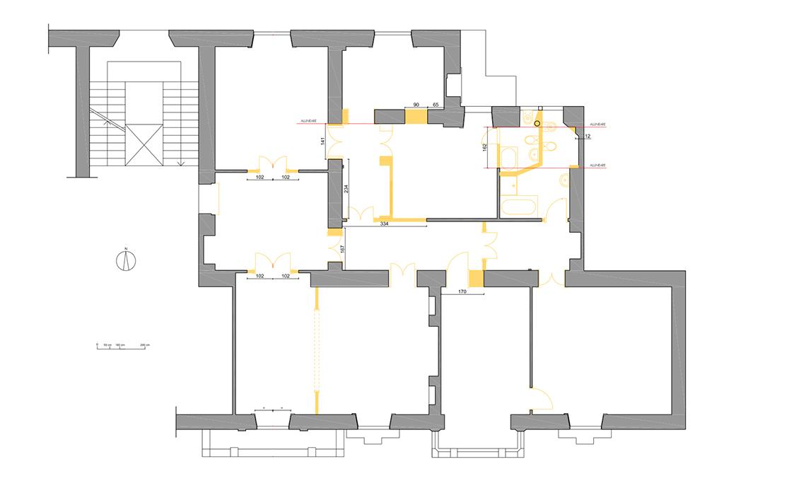 casa in bianco e nero tra classico e contemporaneo