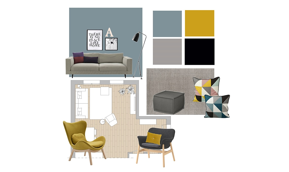 Consigli sui colori per dipingere le pareti del soggiorno casafacile - App per colorare pareti casa ...