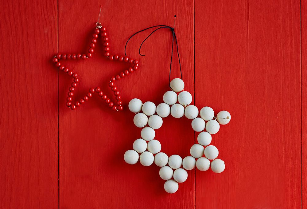 Perle di legno per realizzare stelle décor