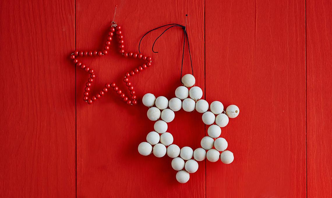 Stella Di Natale Con Perline.Perle Di Legno Per Realizzare Stelle Decor Casafacile