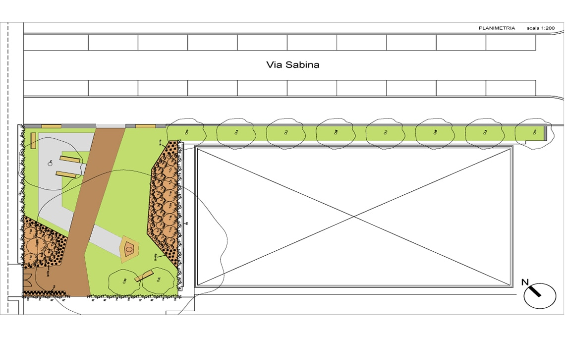giardino largo Franco Parenti a Milano