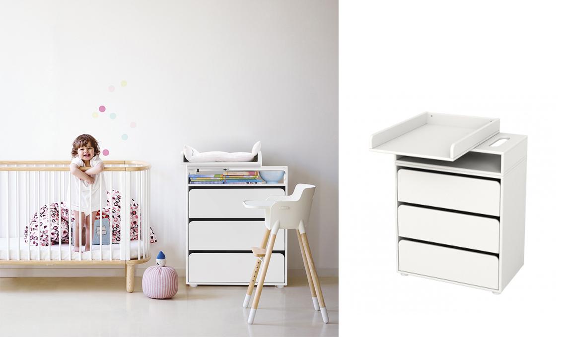 Cassettiera Ikea Con Fasciatoio.19 Fasciatoi Furbi Per La Cameretta Del Bebe Casafacile